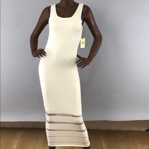 Cream Andrew Marc maxi dress